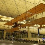 Replica Plane Hanging inside Hong Kong International Airport