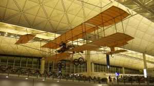 1910 Farman Bi-plane replica at Hong Kong Airport