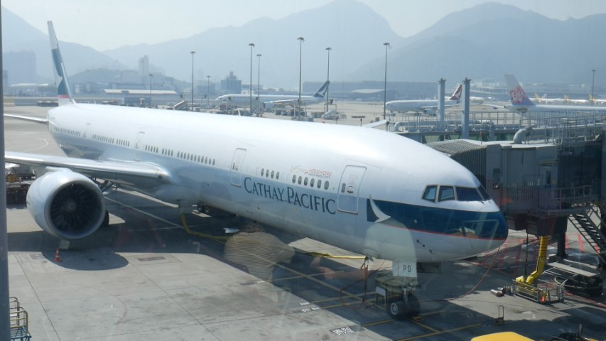 Cathay Pacific B777 Hong Kong to Bangkok