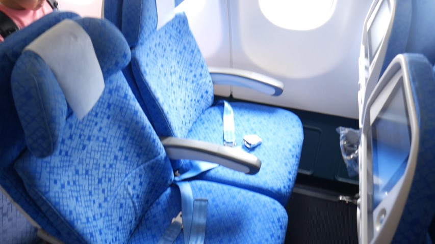 Economy seat of Cathay Pacific A330-300