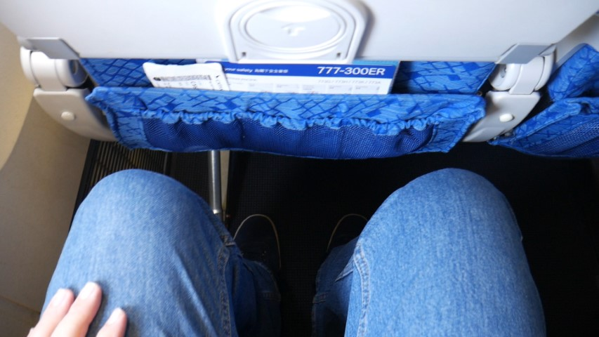 Good legroom in Cathay Pacific Economy class