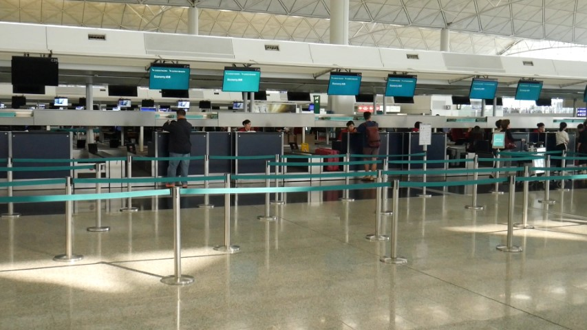 No queues at Cathay Pacific Check-in counters