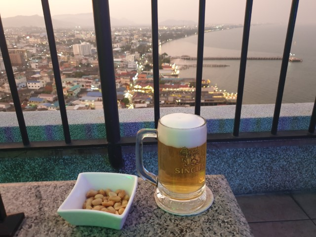Cold Beer at White Lotus Rooftop Bar Hua Hin