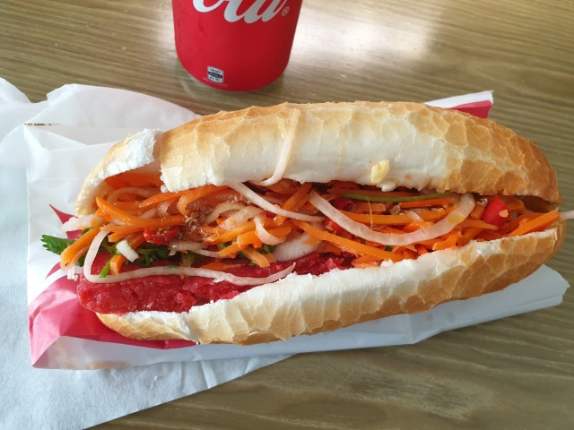 Awesome Banh Mi Vietnamese Bread Roll at Destination Roll Sydney CBD