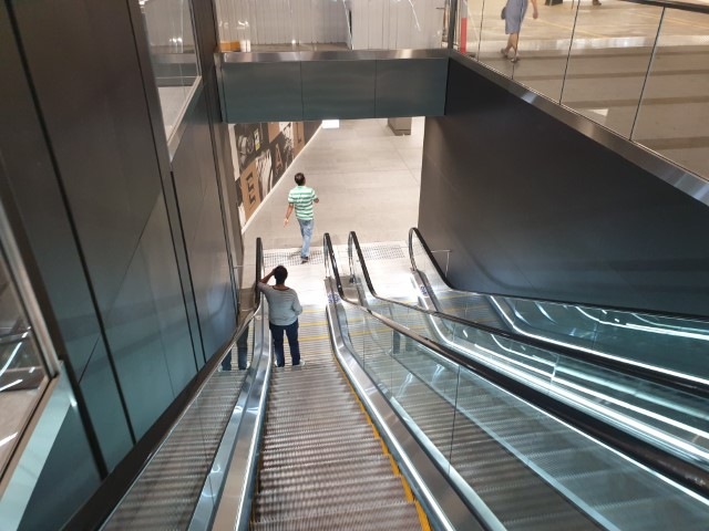 Escalators down to Hunter Connection Tunnel