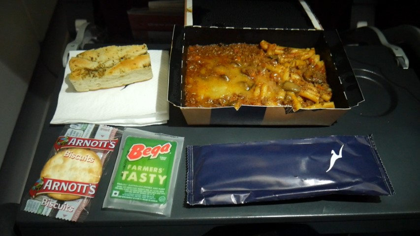 Food served in Economy on Qantas