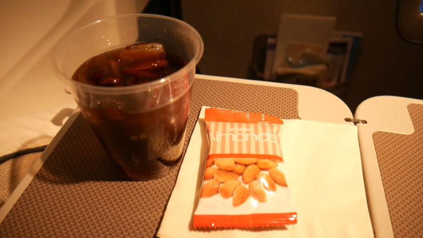 Food service in Cathay Pacific Premium Economy