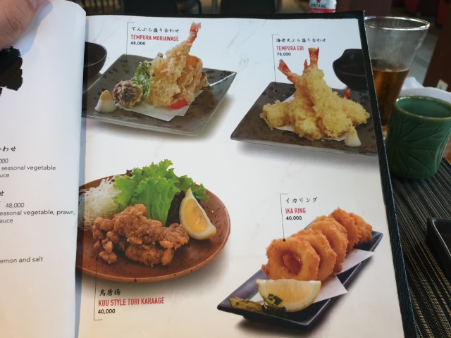 Menu with pictures at Kuu Japanese Restaurant