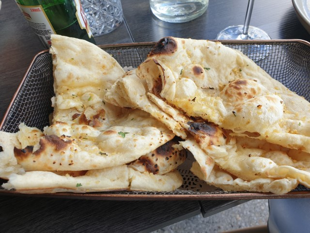 Naan bread at Spiced by Billus