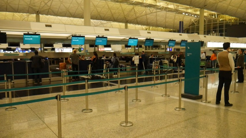 No queues at Cathay Pacific counters