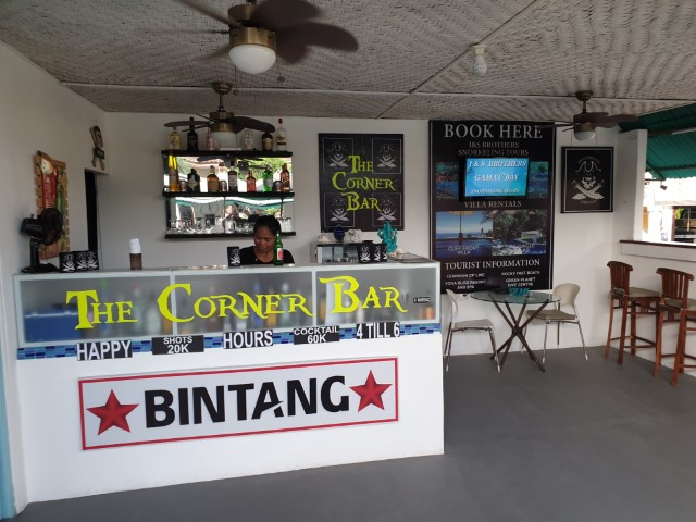 The Corner Bar on Nusa Lembongan Island