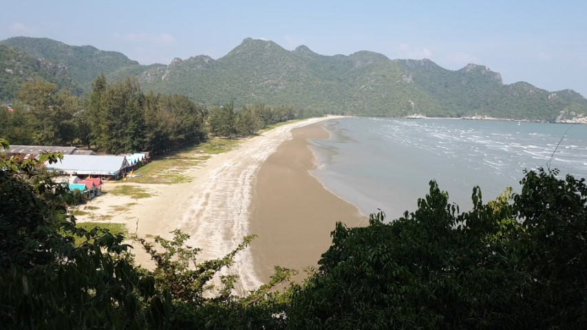 View of the beach at Khao Sam Roi Yot National Park