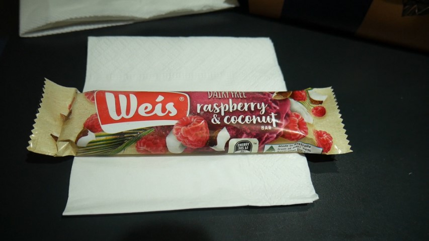 Weis Bar for dessert on Qantas flight