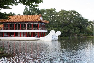 Stone Boat and Tea House at the Chinese Gardens Singapore