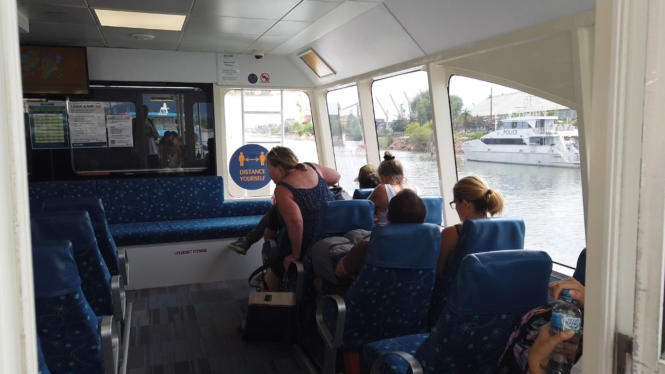 Inside the Sealink Ferry to Magnetic Island