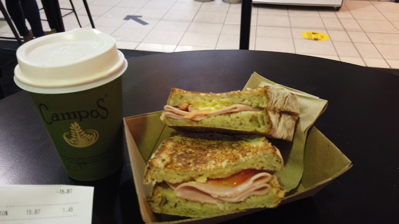 Toasted sandwich at The Brewery Townsville Airport