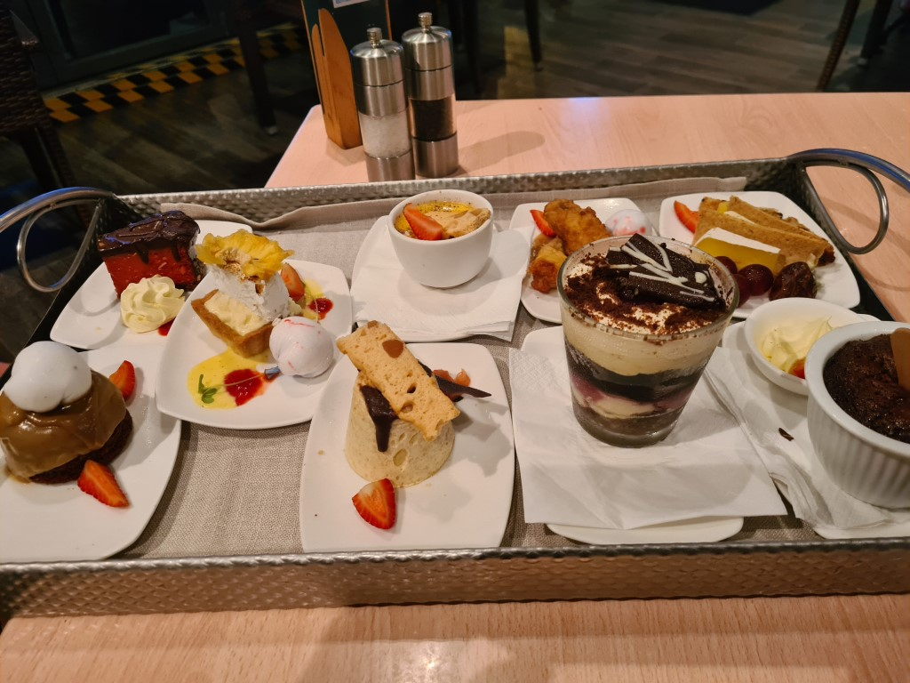 Dessert Tray at Dundee s Waterfront Restaurant Cairns
