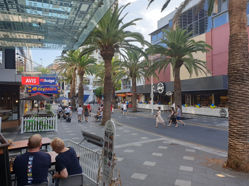 The View along Orchid Avenue Surfers Paradise