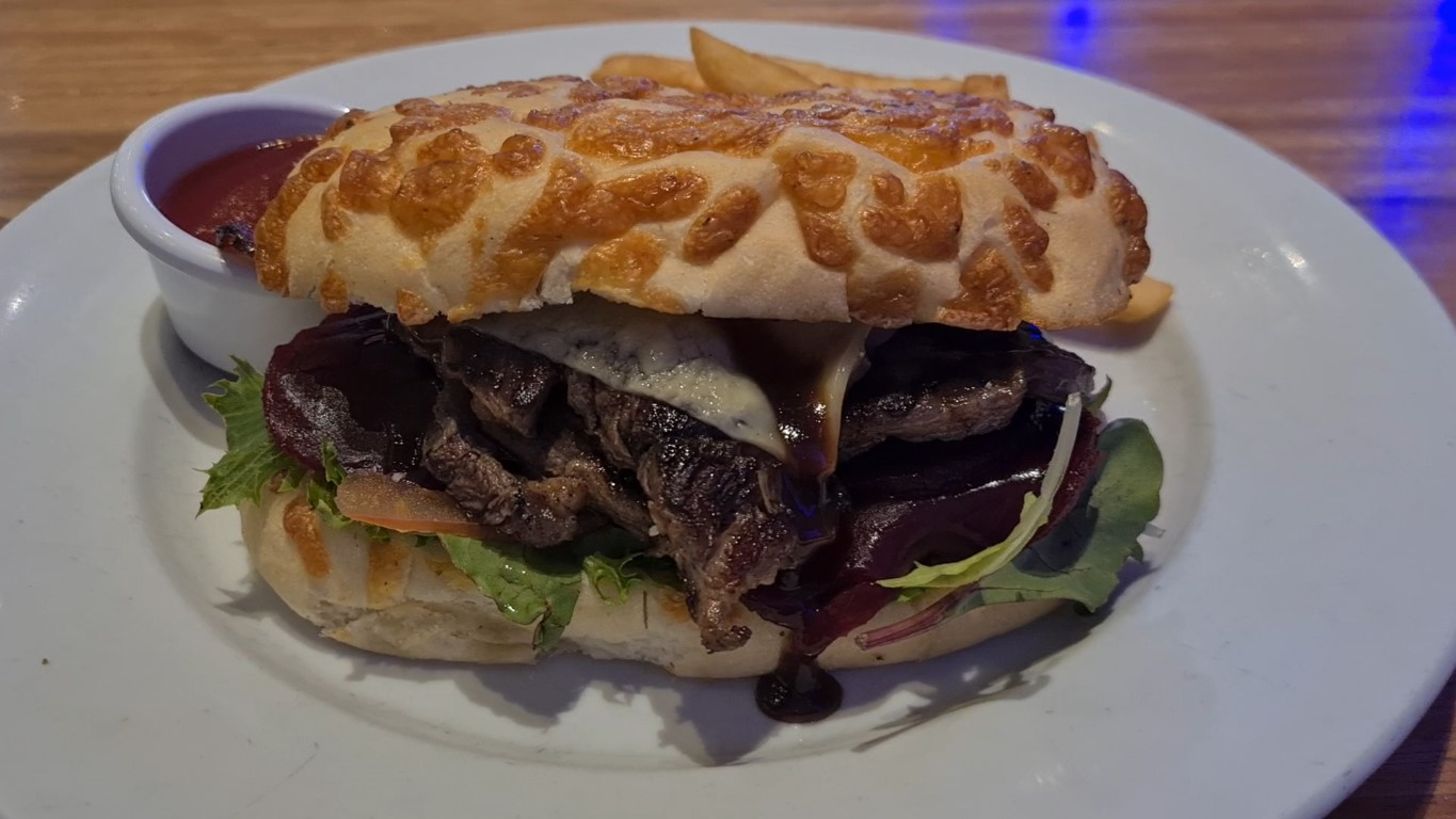 Steak Sandwich at Flinders Bar and Grill