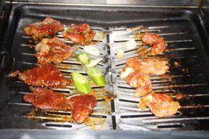 Gas grill at Sama Sama Yakiniku Japanese Restaurant