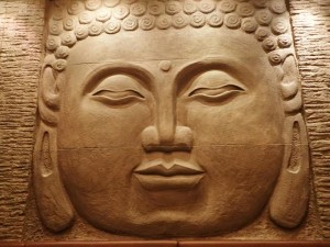 Buddha Face Sculpture at Miyako Restaurant