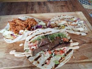 Soft tacos at Gringo Loco Cantina Surfers Paradise