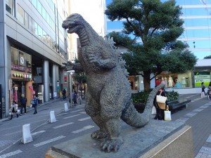 Godzilla Statue in Tokyo