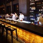 The sushi bar at Sorae Japanese Restaurant
