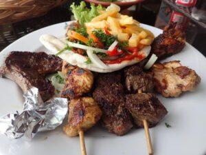 Mixed grill at Palace Lebanese Restaurant