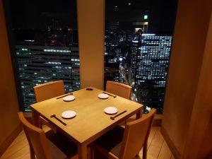 Restaurant with a view over Shinjuku Tokyo