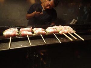 Chicken Skewers at Iku Yakitori Restaurant