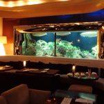 Dining at Den Aquaroom Shinuku Tokyo