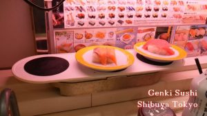 Genki Sushi Conveyor Belt Restaurant Shibuya