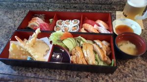 Bento box at Kabuki Shoroku Japanese Restaurant Sydney