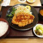 Tonkatsu set at Bairin Restaurant Ginza Tokyo