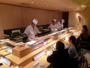 Inside Tsukiji Sushiko Restaurant Ginza