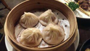 Soup dumplings at Xian Chinese Restaurant Nishi-Shinjuku