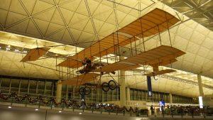 1910 Farman Bi-plane replica at Hong Kong Airport