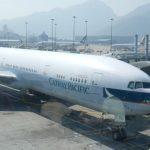 Cathay Pacific B777 Hong Kong to Bangkok