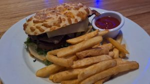 Steak Sandwich at Flinders Bar and Grill Cairns