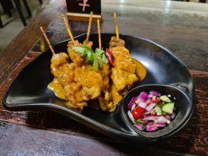 Chicken Satay at Kinn Imm Thai Restaurant Brisbane