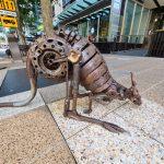 Mechanical Kangaroo Sculptures in Brisbane City Centre