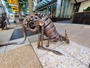 Kangaroo Sculpture on George St Brisbane