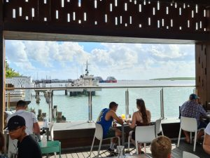 View from Wharf One Cafe Cairns