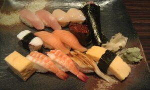 Sushi set meal at Hina Sushi Restaurant