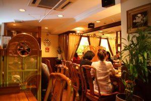 Inside Jasmine Thai Restaurant Roppongi Tokyo