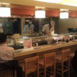 Watching the sushi chefs at Kizuna Sushi Restaurant Tokyo
